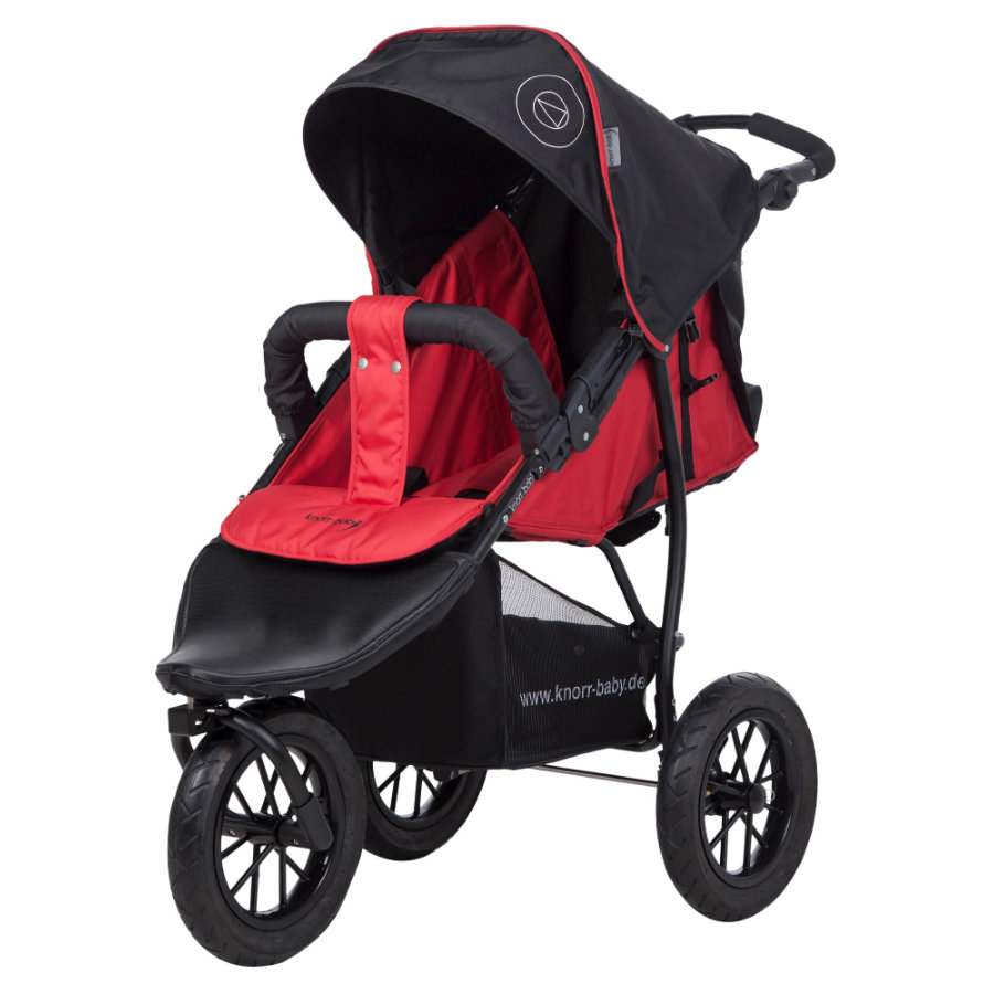Knorr-Baby Sittvagn Joggy S Happy röd
