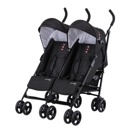 knorr-baby Poussette double Side by Side, noir