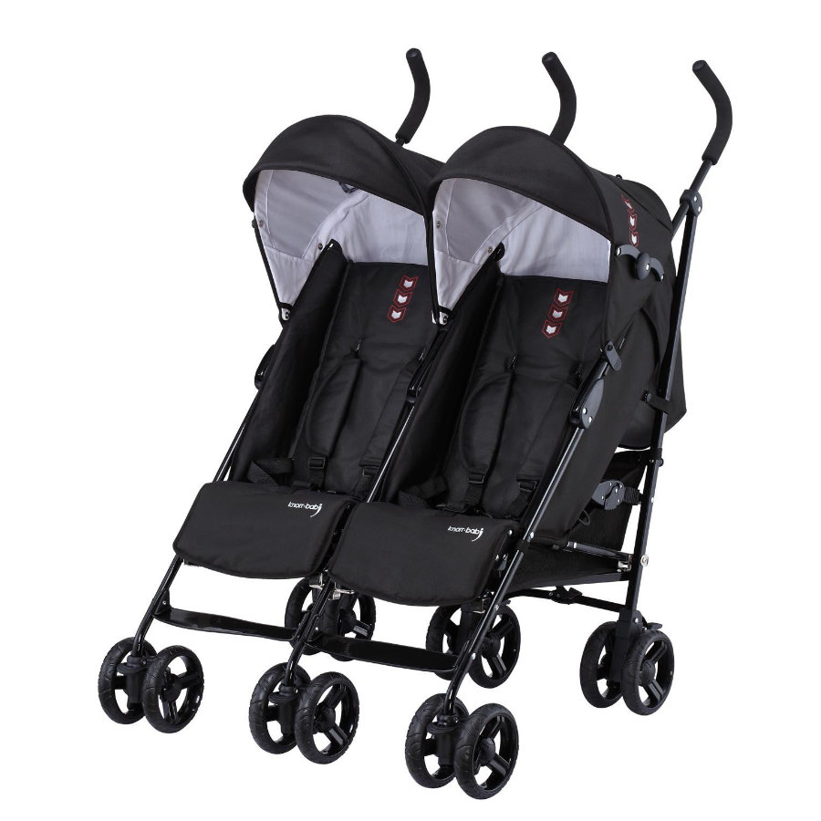 knorr baby geschwisterwagen side by side schwarz. Black Bedroom Furniture Sets. Home Design Ideas