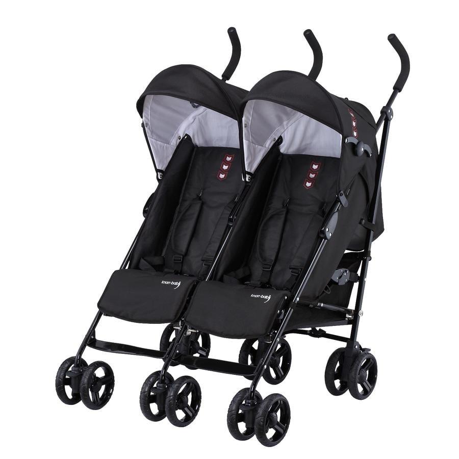 knorr-baby Søsken- og tvillingvogn Side by Side svart