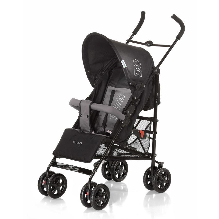 knorr-baby Poussette-canne Commo, noir/gris