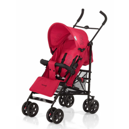 KNORR-BABY Poussette-canne Commo, noir/rouge