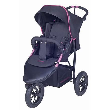 knorr-baby Wózek spacerowy Joggy S czarny-fuchsia