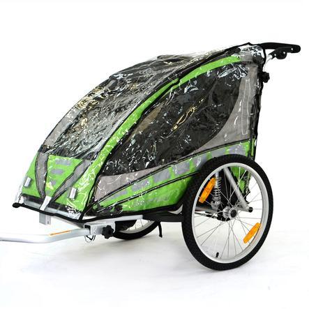 Qeridoo® Regenschutz für Kinderfahrradanhänger Sportrex1