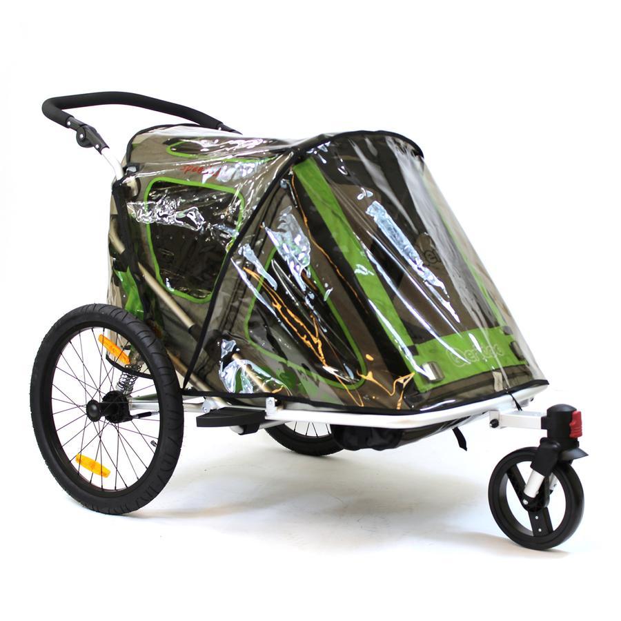 Qeridoo® Protection pluie pour remorque de vélo enfant Speedkid 2