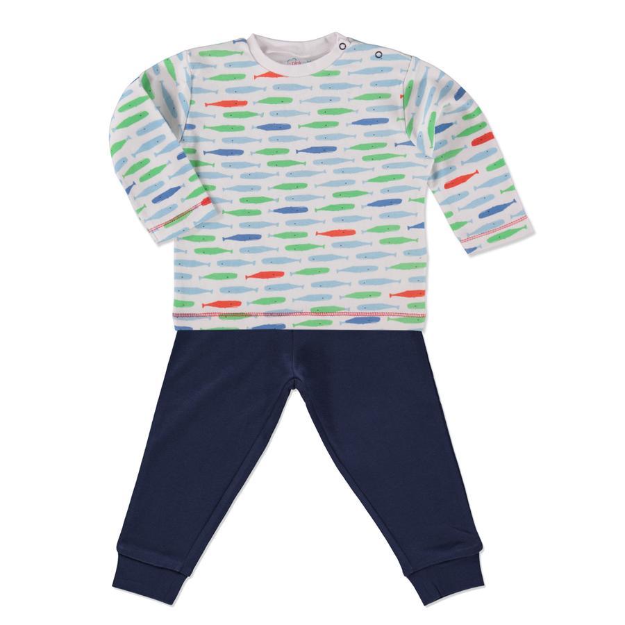 PINK OR BLUE Boys Schlafanzug 2-teilig blau/weiß
