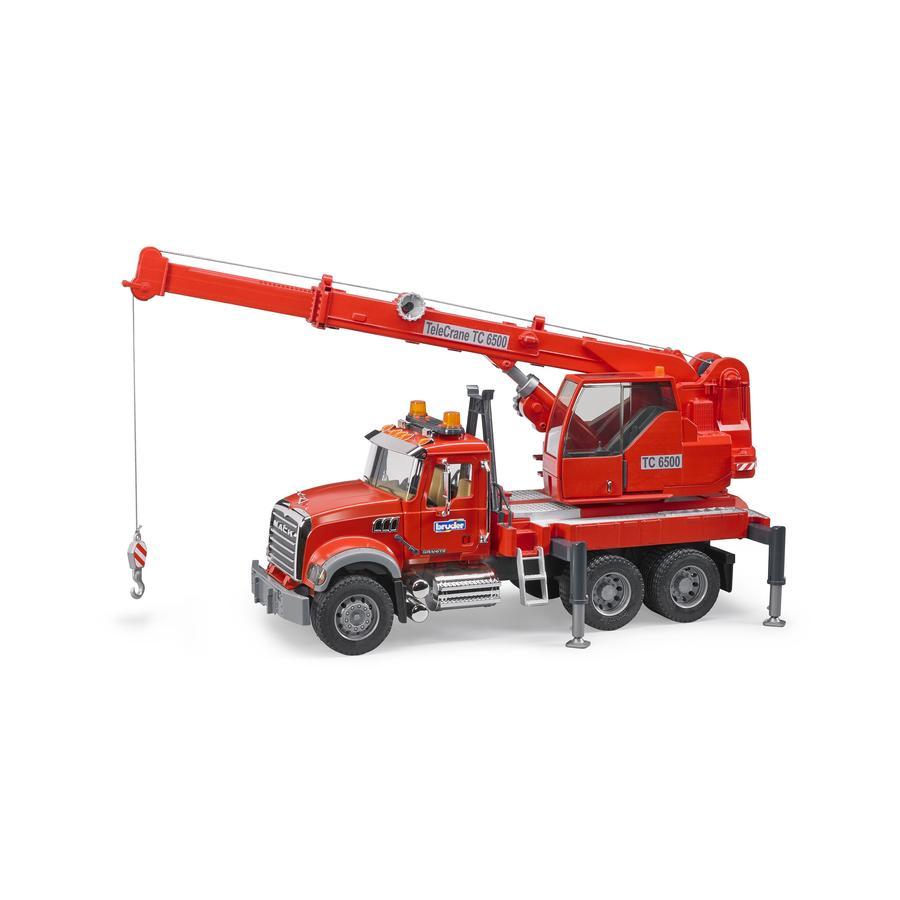 bruder® MACK Granite Kran-LKW mit Light & Sound Module 02826