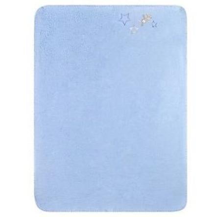 JULIUS ZÖLLNER Bavlněná deka s hvězdičkami modrá