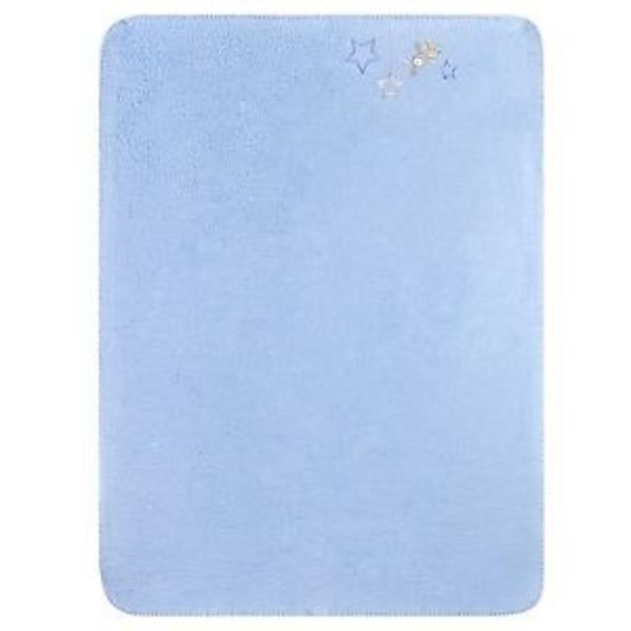 JULIUS ZÖLLNER Kocyk bawełniany Gwiazdki blue