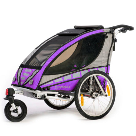 Qeridoo Remorque de vélo enfant Sportrex1, violet, modèle 2016