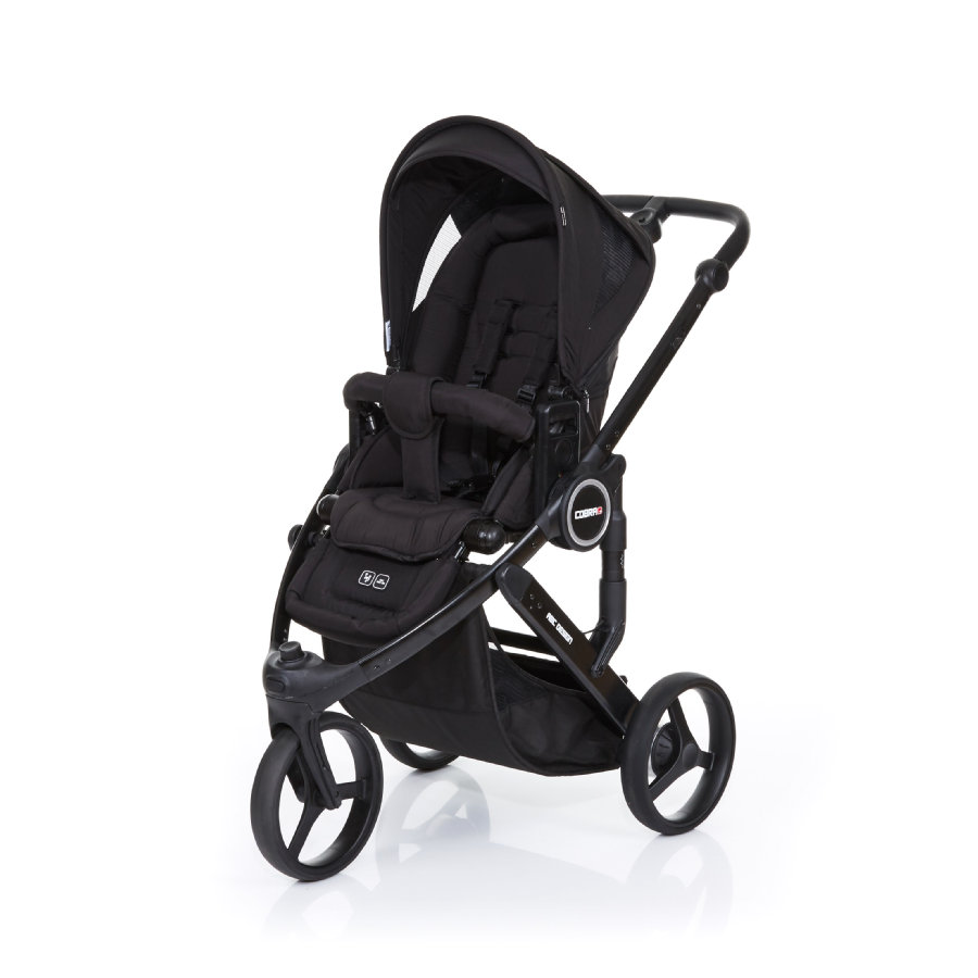 ABC DESIGN Kinderwagen Cobra plus black-black, Gestell black / Sitz black