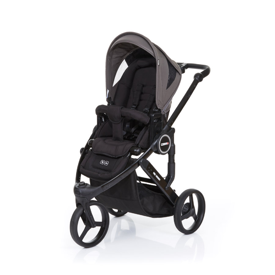 ABC DESIGN Kinderwagen Cobra plus black-cloud, Gestell black / Sitz black