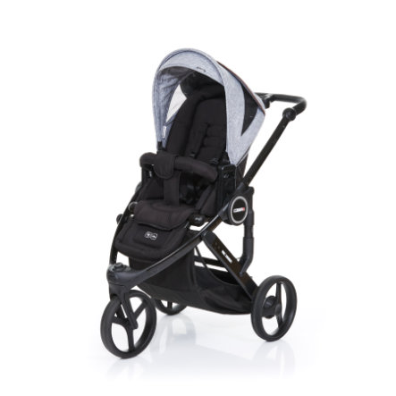 ABC DESIGN Kinderwagen Cobra plus black-graphite grey, Gestell black / Sitz black