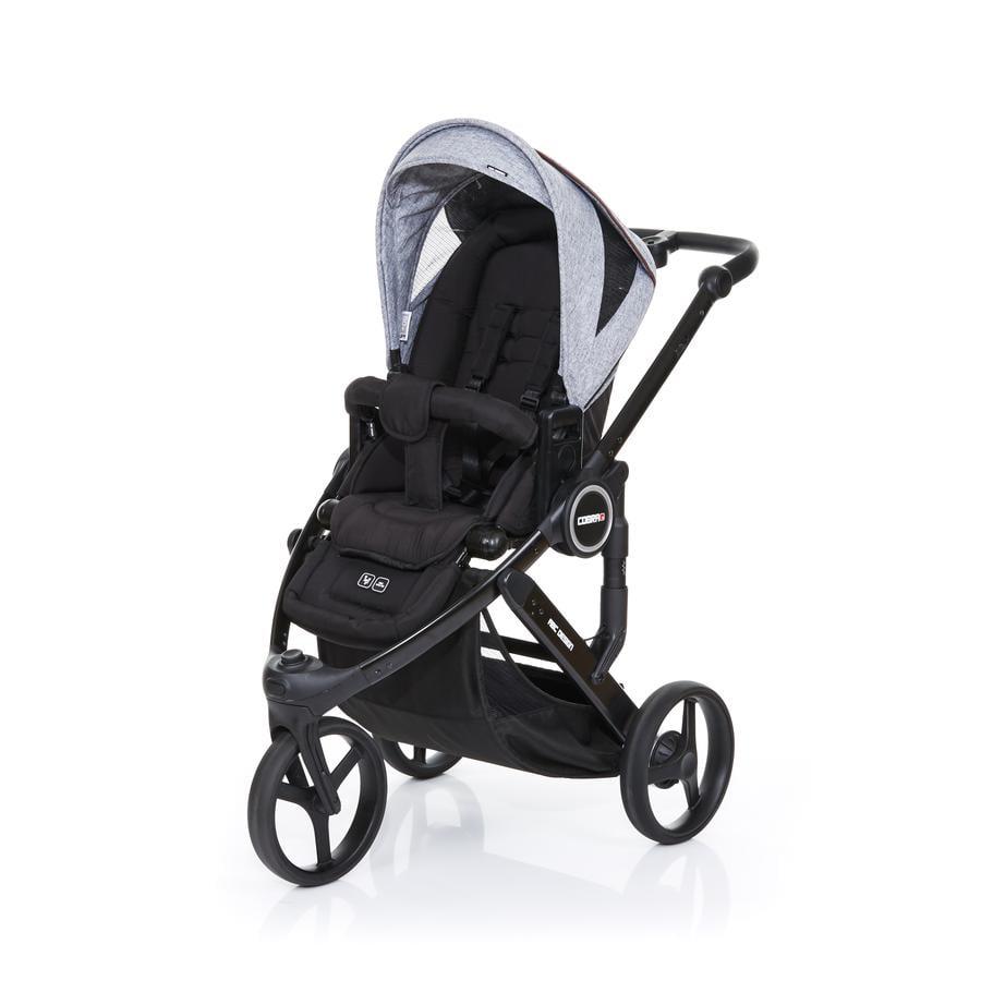 ABC DESIGN Poussette 3 roues Cobra plus black-graphite grey, châssis/assise noir