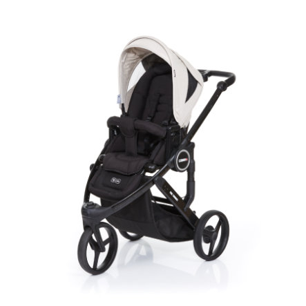 ABC DESIGN Kinderwagen Cobra plus black-sheep, Gestell black / Sitz black