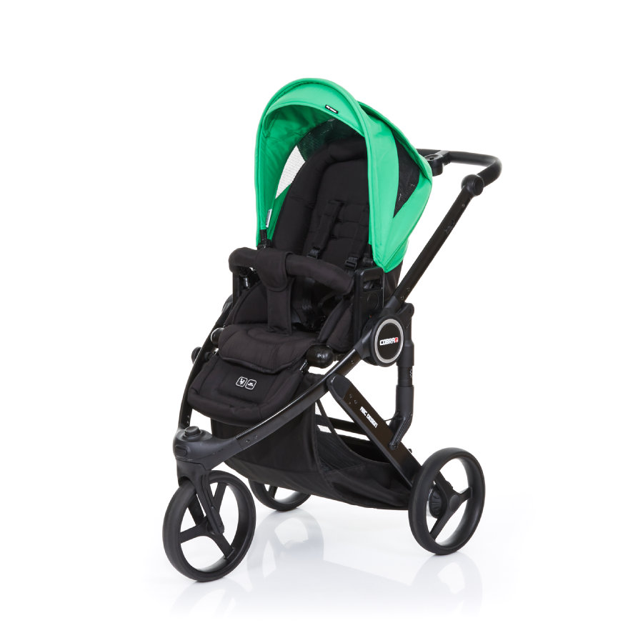 ABC DESIGN Kinderwagen Cobra plus black-grass, Gestell black / Sitz black