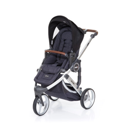 ABC DESIGN Kinderwagen Cobra plus street-black, frame silver / zitting street