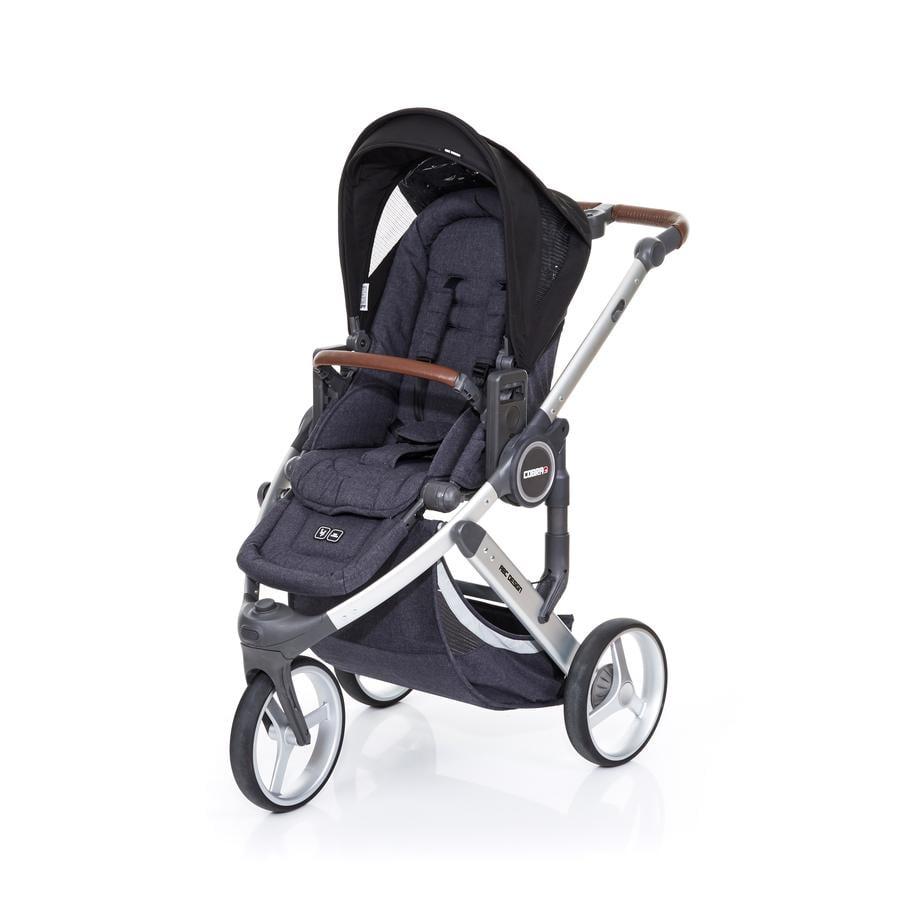 ABC DESIGN Poussette 3 roues Cobra plus street-black, châssis argent/assise street