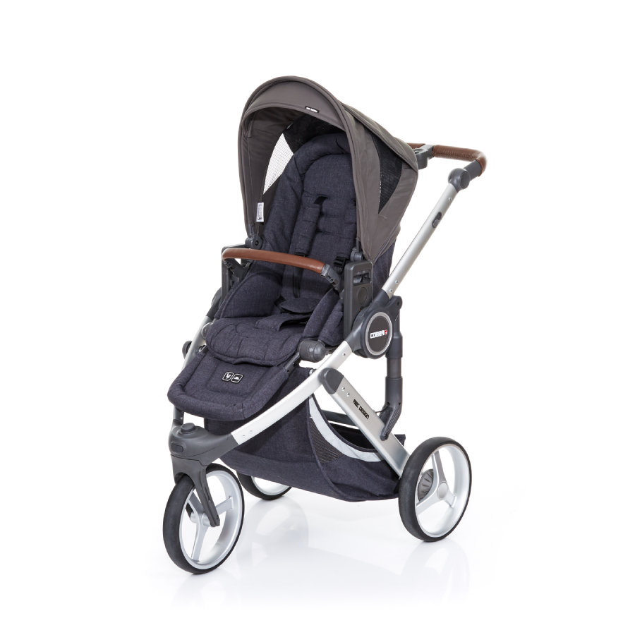 ABC DESIGN Kinderwagen Cobra plus street-cloud, Gestell silver / Sitz street