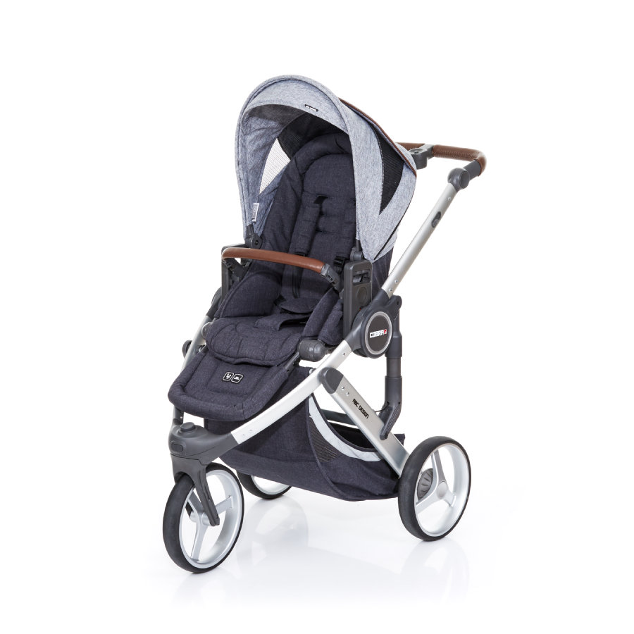 ABC DESIGN Kinderwagen Cobra plus street-graphite grey, frame silver / zitting street