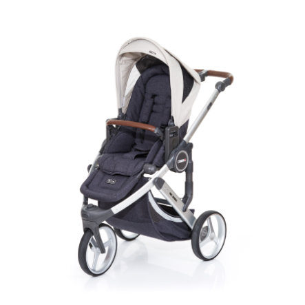 ABC DESIGN Kinderwagen Cobra plus street-sheep, Gestell silver / Sitz street