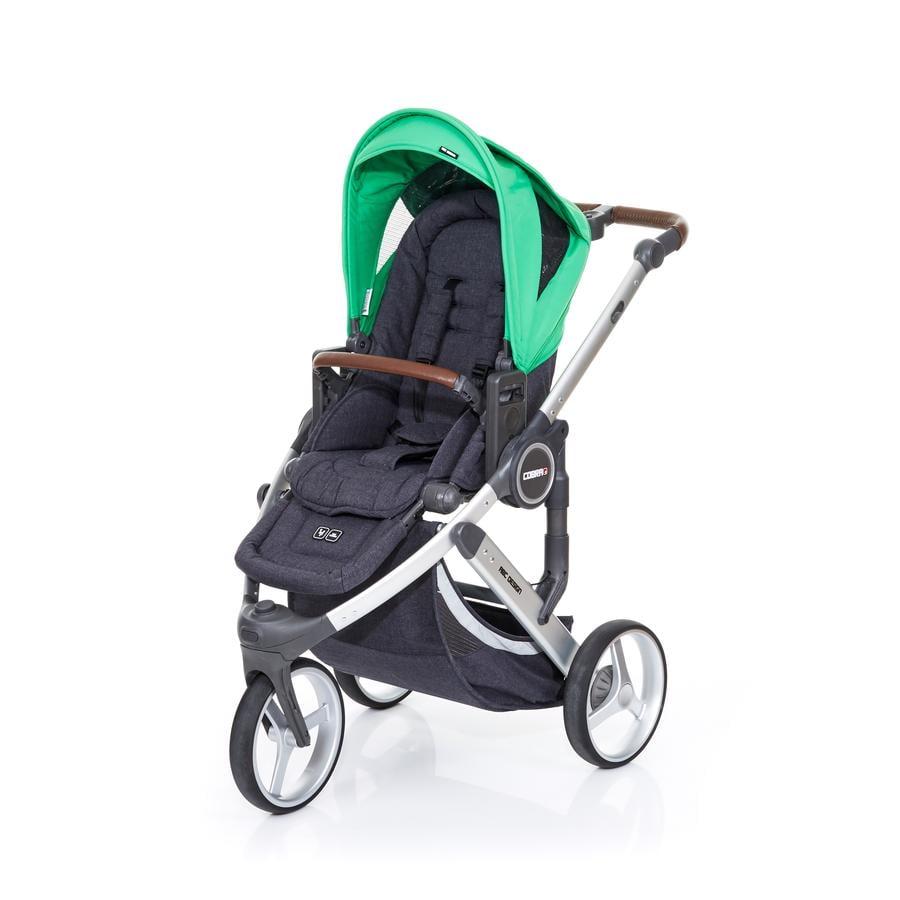 ABC DESIGN Poussette 3 roues Cobra plus street-grass, châssis argent/assise street