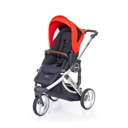 ABC DESIGN Kinderwagen Cobra plus street-flame, frame silver / zitting street