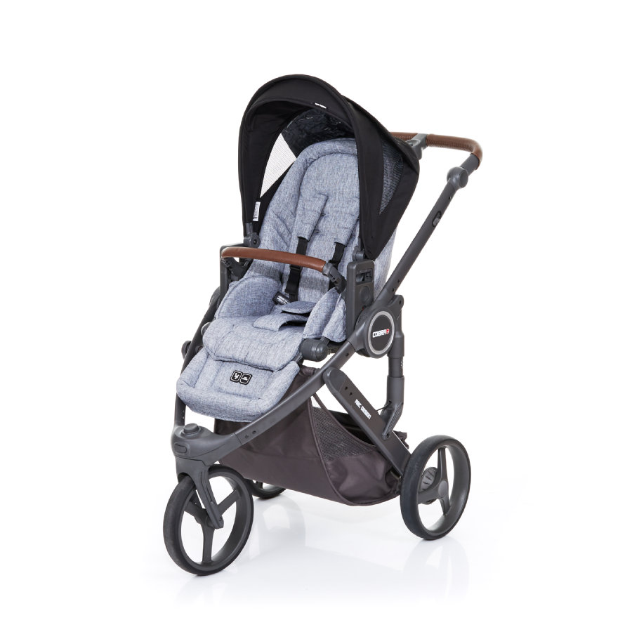 ABC DESIGN Kinderwagen Cobra plus graphite grey-black, frame cloud / zitting graphite grey