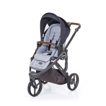 ABC DESIGN Kinderwagen Cobra plus graphite grey-street, Gestell cloud / Sitz graphite grey