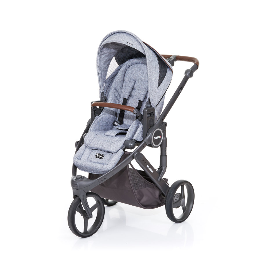 ABC DESIGN Kinderwagen Cobra plus graphite grey-graphite grey, Gestell cloud / Sitz graphite grey