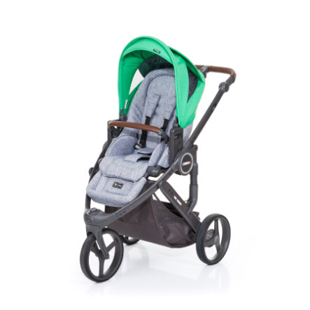 ABC DESIGN Kinderwagen Cobra plus graphite grey-grass, Gestell cloud / Sitz graphite grey