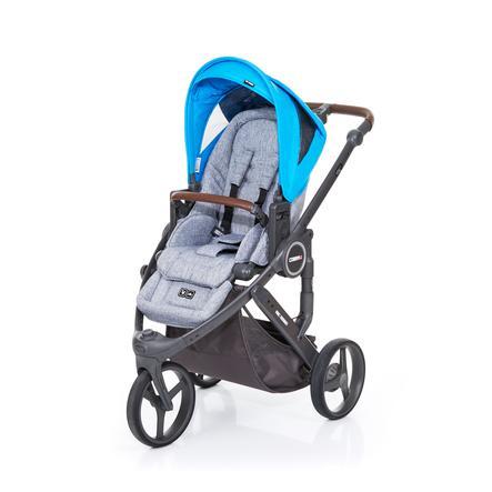 ABC DESIGN Poussette 3 roues Cobra plus graphite grey-water, châssis cloud/assise graphite grey