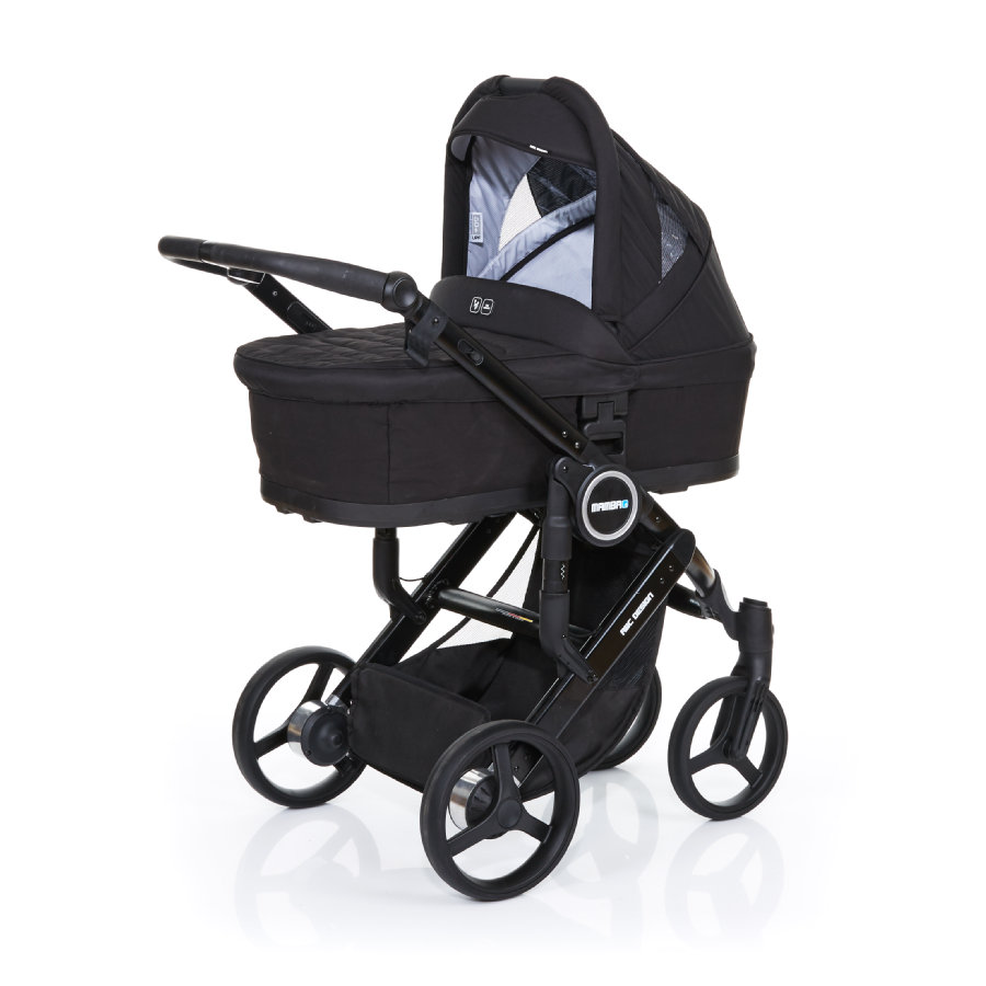 ABC DESIGN Kinderwagen Mamba plus black-black, frame black / zitting black