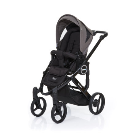 ABC DESIGN Kinderwagen Mamba plus black-cloud, frame black / zitting black