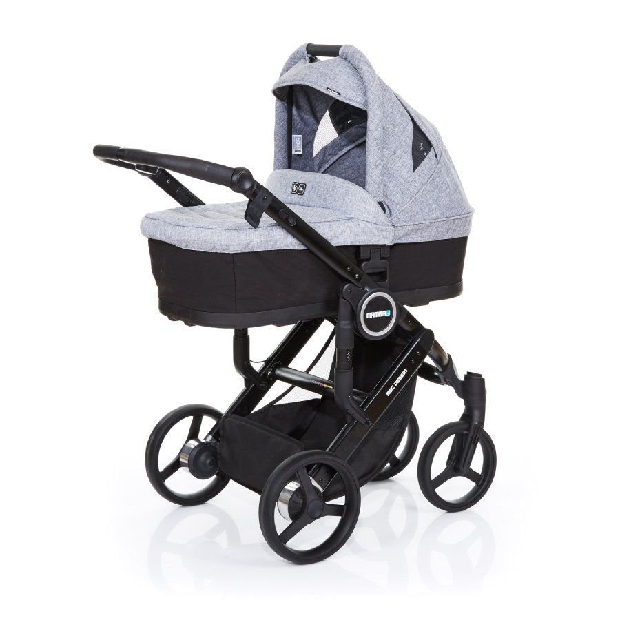 ABC DESIGN Kombikinderwagen Mamba plus black-graphite grey, Gestell black / Sitz black