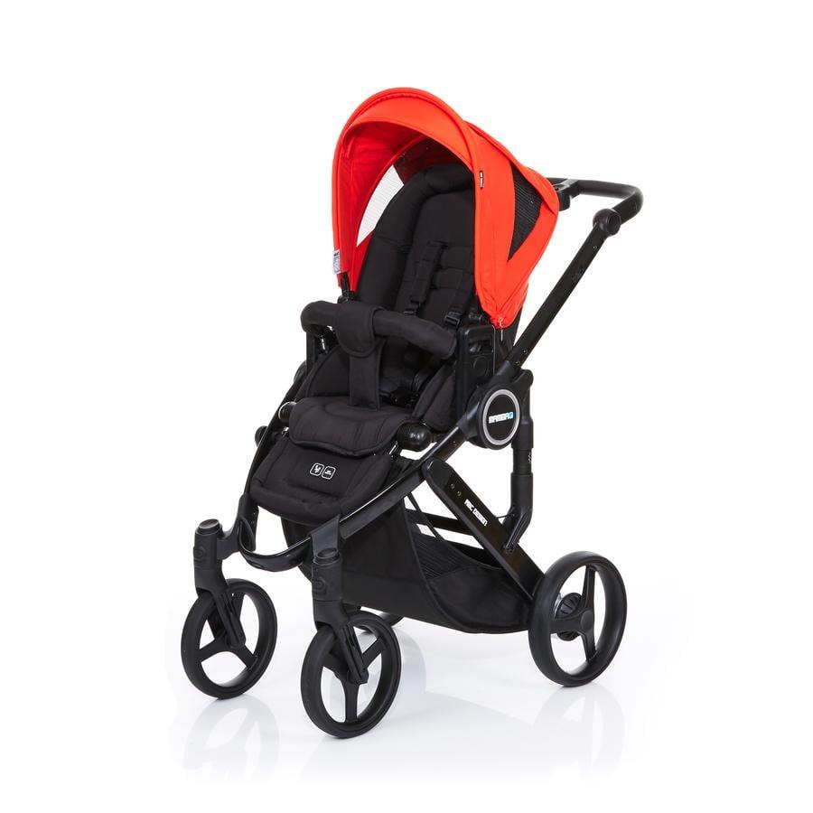 ABC DESIGN Kinderwagen Mamba plus black-flame, frame black / zitting black