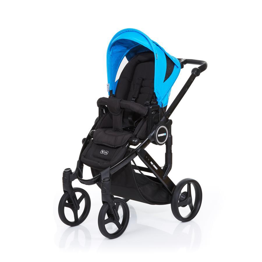 ABC DESIGN Kinderwagen Mamba plus black-water, frame black / zitting black