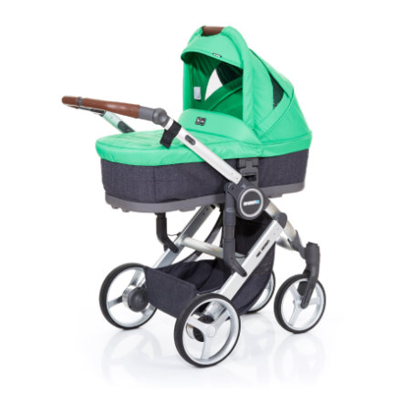 ABC DESIGN Kinderwagen Mamba plus street-grass, frame silver / zitting street