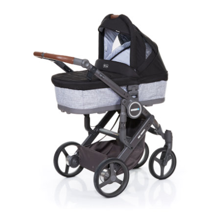 ABC DESIGN Poussette combinée Mamba plus graphite grey-black, châssis cloud / assise graphite grey