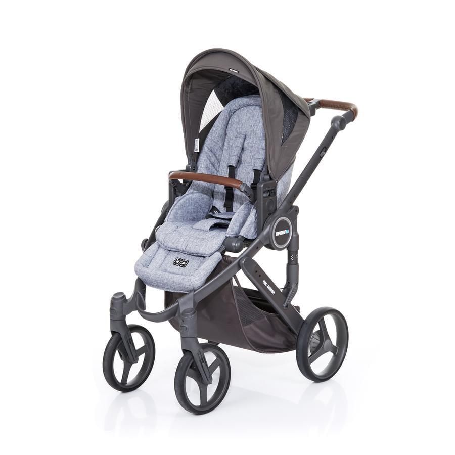 ABC DESIGN Kinderwagen Mamba plus graphite grey-cloud, frame cloud / zitting graphite grey