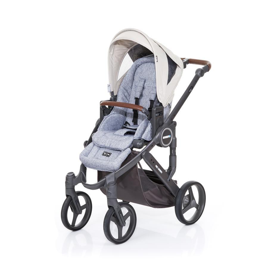 ABC DESIGN Kinderwagen Mamba plus graphite grey-sheep, frame cloud / zitting graphite grey