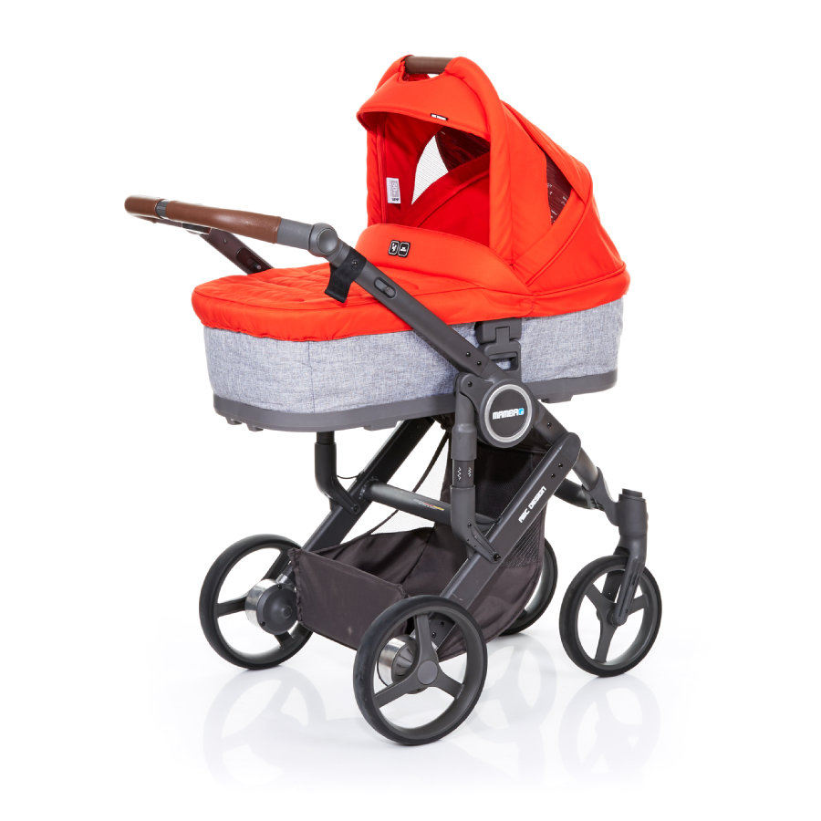 ABC DESIGN Passeggino Mamba plus graphite grey-flame, telaio cloud / sedile graphite grey