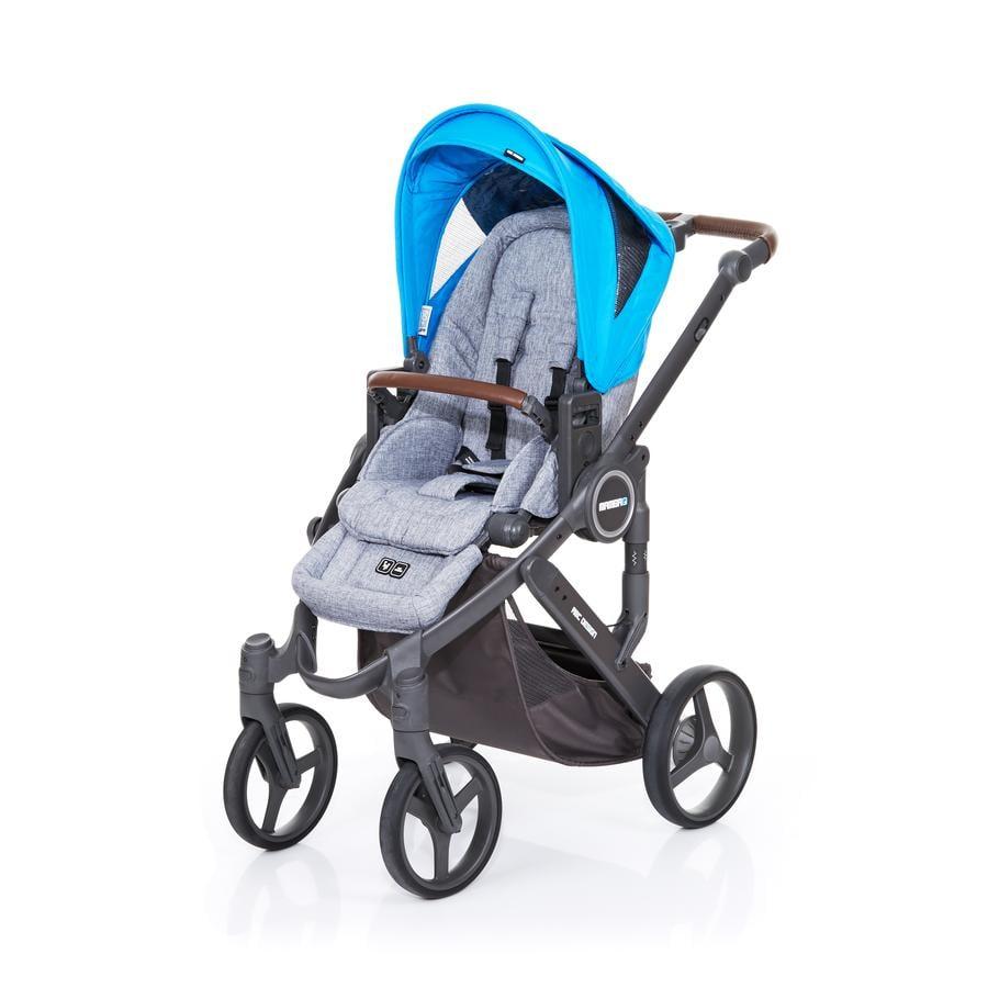 ABC DESIGN Kinderwagen Mamba plus graphite grey-water, frame cloud / zitting graphite grey
