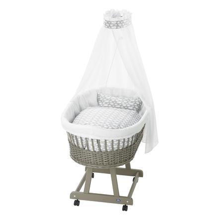 Košík na miminko Birthe taupe 653-9 obláček stříbrná