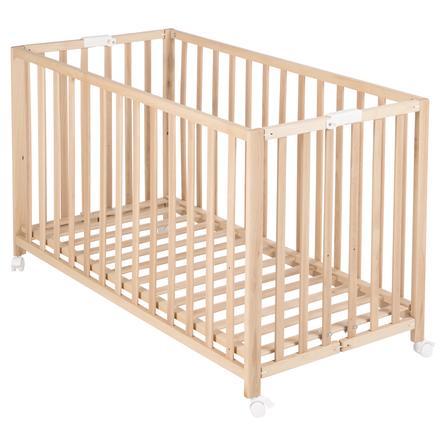 roba Lit enfant pliable Fold-Up 60x120 cm bois naturel