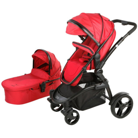 LIBELULLE Pack Duo Poussette LINOA 2.0 + nacelle de promenade, Red