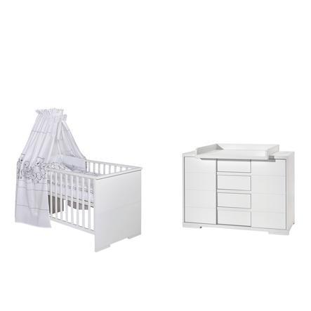 SCHARDT Set lettino e fasciatoio MAXX WHITE