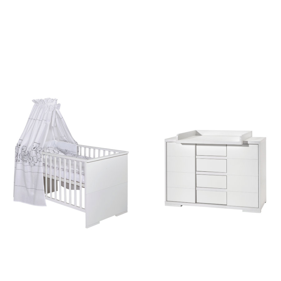 SCHARDT Ensemble lit et commode MAXX WHITE