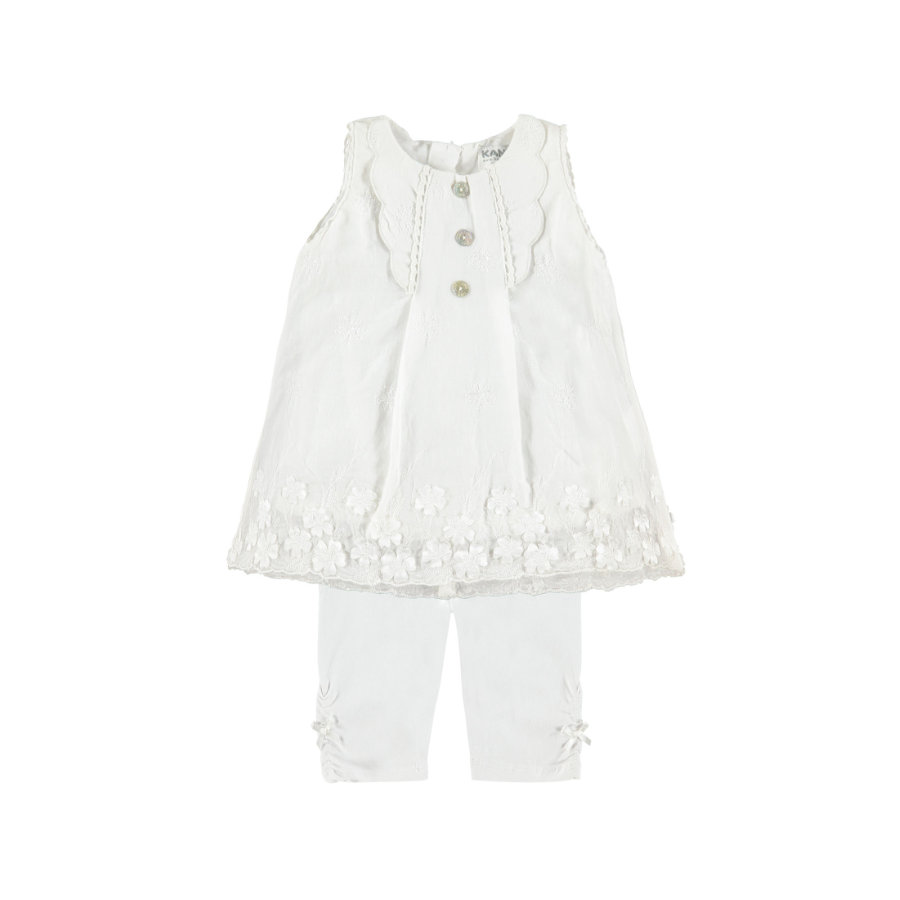 KANZ Girls Sukienka + leginsy bright white