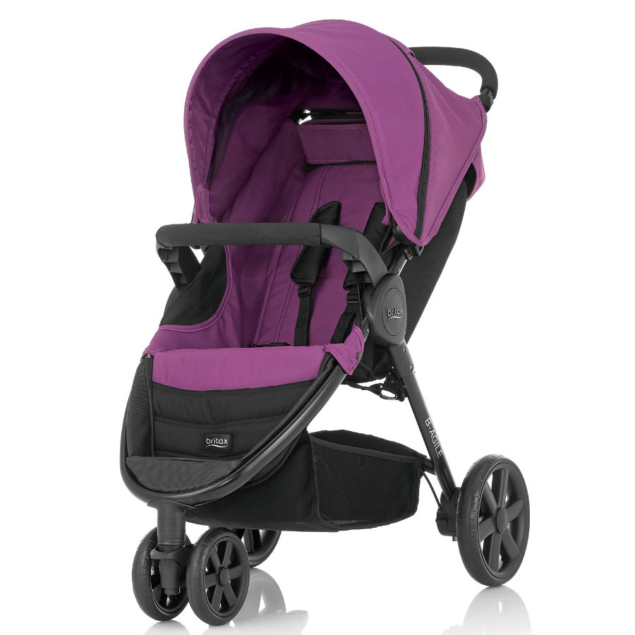 BRITAX Kinderwagen B-Agile 3 Cool Berry/ Black Chassis